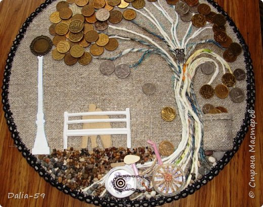 Всем жителям страны,здравствуйте!!!Понравилось мне делать денежные деревья.Здесь  первые (http://stranamasterov.ru/node/1087429).Там есть ссылка на МК и моих вдохновителей. фото 6