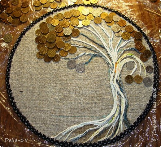 Всем жителям страны,здравствуйте!!!Понравилось мне делать денежные деревья.Здесь  первые (http://stranamasterov.ru/node/1087429).Там есть ссылка на МК и моих вдохновителей. фото 4