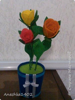 Цветочки из фетра фото 1