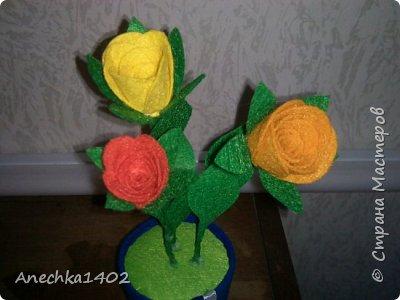Цветочки из фетра фото 2