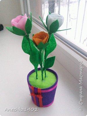Цветочки из фетра фото 4
