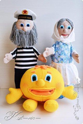 Для деток в детский сад сшила вот таких персонажей - сказки Колобок.  Выкройки с сайта puppentheater и prettytoys.  Впереди много фотографий ;) фото 1