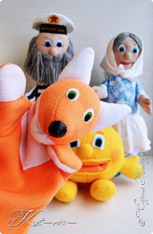 Для деток в детский сад сшила вот таких персонажей - сказки Колобок.  Выкройки с сайта puppentheater и prettytoys.  Впереди много фотографий ;) фото 21