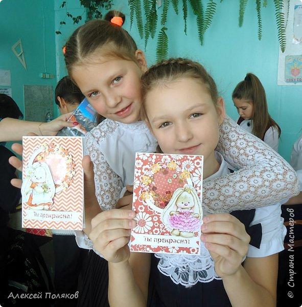 Здравствуйте, дорогие друзья! Сегодня мы с мамой Еленой Поляковой представляем наш совместный  проект,  который был разработан в рамках моей школьной исследовательской работы. Мастер-класс по созданию открытки с шейкером. фото 37