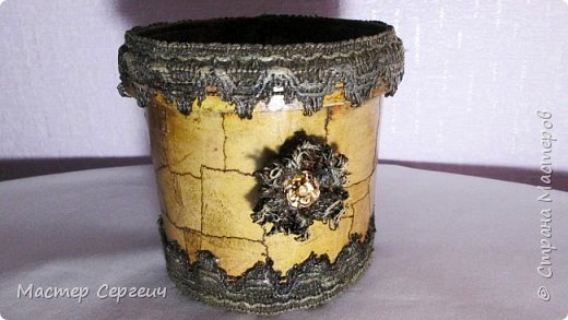 Цветочный горшок из майонезной банки