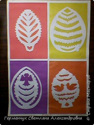 Пасхальные вырезалки   к  празднику - работы ребят 4 класса  фото 15