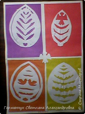 Пасхальные вырезалки   к  празднику - работы ребят 4 класса  фото 11