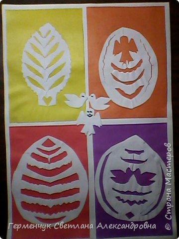 Пасхальные вырезалки   к  празднику - работы ребят 4 класса  фото 8