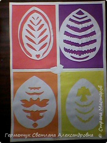 Пасхальные вырезалки   к  празднику - работы ребят 4 класса  фото 6