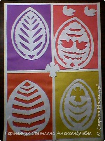 Пасхальные вырезалки   к  празднику - работы ребят 4 класса  фото 5