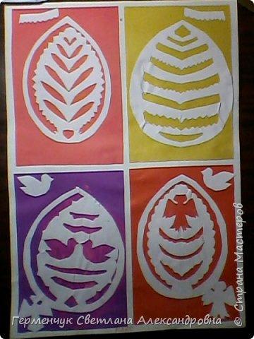 Пасхальные вырезалки   к  празднику - работы ребят 4 класса  фото 4