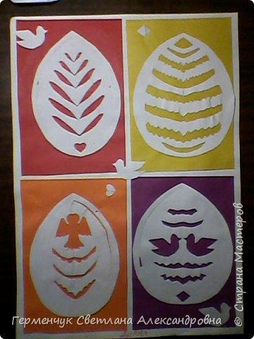 Пасхальные вырезалки   к  празднику - работы ребят 4 класса  фото 2