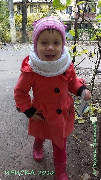 Привет всем гостям моей странички!!! Я к Вам с весенним приветом из солнечной Одессы!!! Хочу показать вам вязанные вещи моей дочурки золотыми ручками её любящих бабушек!!! фото 24