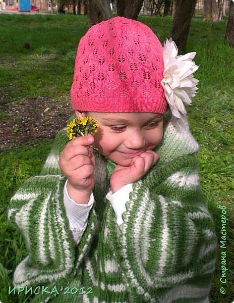 Привет всем гостям моей странички!!! Я к Вам с весенним приветом из солнечной Одессы!!! Хочу показать вам вязанные вещи моей дочурки золотыми ручками её любящих бабушек!!! фото 1