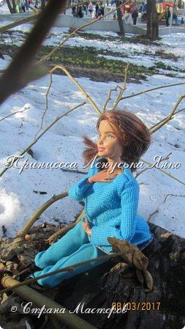 Всем привет, я снова с вами. Сегодня я покажу вам Лерину прогулку в парке в новом пальто.  фото 5