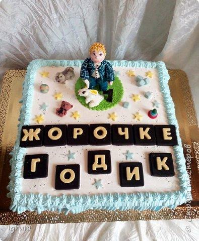 Продолжаю тему тортиков для самых маленьких. Начало тут http://stranamasterov.ru/node/1089251 Не очень удачный( на мой взгляд) тортик. Объемная аппликация в этот раз получилась несуразной какой-то. Хотя персонажи, вроде бы, узнаваемы... Вес 2,3кг. Шоколадный бисквит, сливочно-творожный карамельный крем, какао пропитка фото 15
