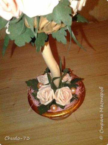 А вот и розовое деревце. Это первая моя работа из фоамирана. Не судите строго. фото 3