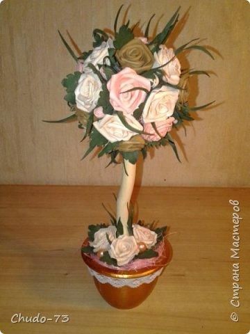 А вот и розовое деревце. Это первая моя работа из фоамирана. Не судите строго. фото 4