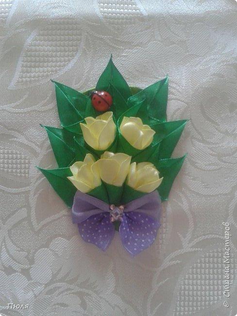 Доброго времени суток уважаемые жители СМ! Наконец то я доделала букетики тюльпанов, делала по МК: http://www.stranamam.ru/post/9181302/  и http://stranamasterov.ru/node/1018100 .  Вот  уж и 8 марта прошло давно, но цветы приятнее дарить просто так от души и без повода, поэтому принимайте мои букетики. Сделать выбор приглашаю моих кредиторов.  фото 2