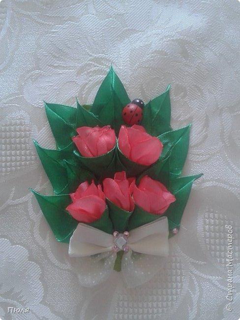 Доброго времени суток уважаемые жители СМ! Наконец то я доделала букетики тюльпанов, делала по МК: http://www.stranamam.ru/post/9181302/  и http://stranamasterov.ru/node/1018100 .  Вот  уж и 8 марта прошло давно, но цветы приятнее дарить просто так от души и без повода, поэтому принимайте мои букетики. Сделать выбор приглашаю моих кредиторов.  фото 4