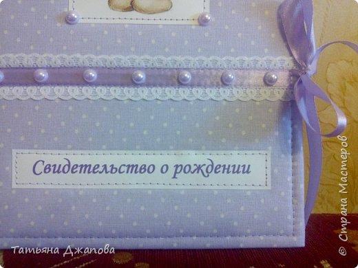 Всем привет!  У меня родилась племянница и я решила подарить фотоальбом и папку для свидетельства о рождении. Делала впервые,  но мне очень понравился процесс и результатом довольна.  фото 11