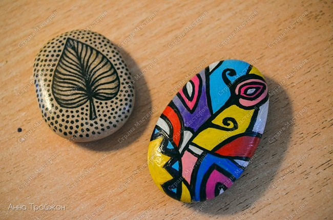 Роспись камней фото 4
