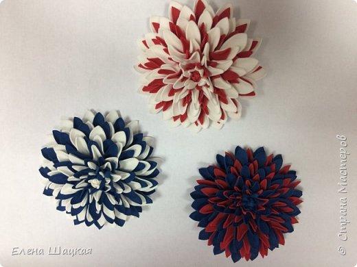 Ободок для дочери. Сиреневые цветочки сделаны при помощи дырокола. фото 4