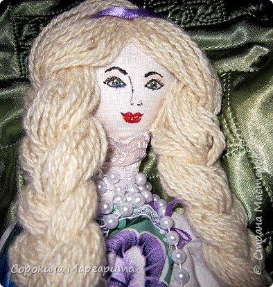 Сшита давно и уже уехала в г. Заречный кукла на чайник Мария фото 2