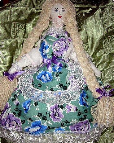 Сшита давно и уже уехала в г. Заречный кукла на чайник Мария фото 3