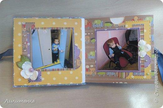 Сделала мини-альбомчик на день рождения своему племяннику. С фотографиями!))) Все-таки альбом с фотографиями совсем по-другому смотрится... фото 2