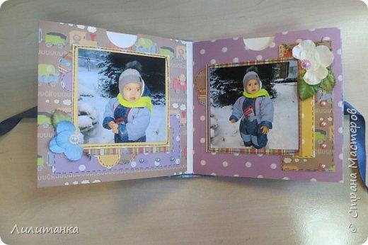 Сделала мини-альбомчик на день рождения своему племяннику. С фотографиями!))) Все-таки альбом с фотографиями совсем по-другому смотрится... фото 3