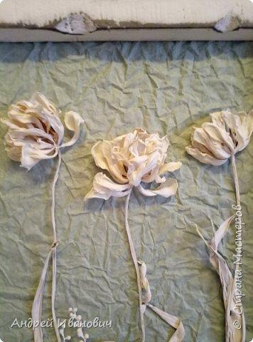 Мой эксперимент с сухими цветами Так они же очень хрупкие))))))) скажете вы Но после 10-того раза опрыскивания их краской, они даже очень ничего))))  фото 3