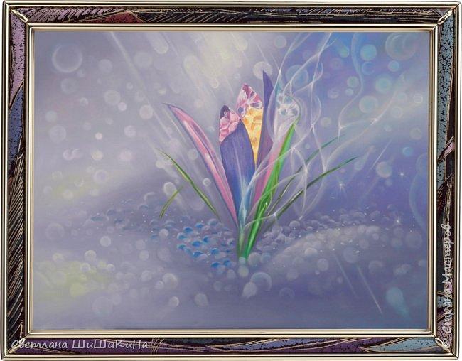 """Крокус"" по МК Александра Маранова. Холст, масло, 80х60 см."