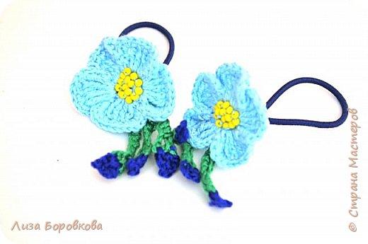 Резинка для волос с цветком льна