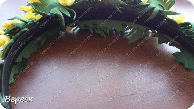 Очередные  работы наших юных мастериц.  Ободок с розами собирала я ,а делал девочка 12 лет.Второй-одуванчики, делала я. фото 6