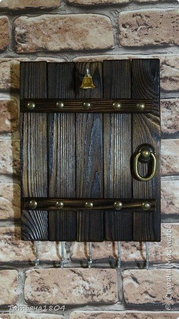 Сделала несколько заготовок для ключниц с обжигом и брашировкой. фото 10