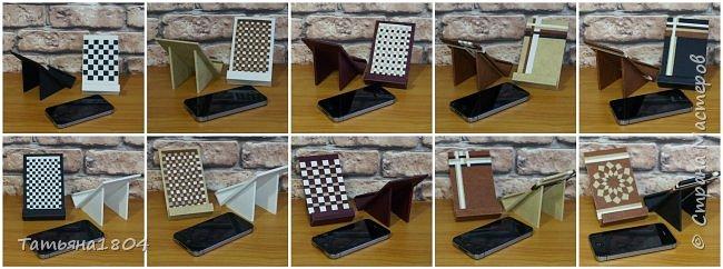 Подставки для мобильных телефонов сделаны из пластика ПВХ, обтянуты искусственной кожей в разных вариациях. фото 15