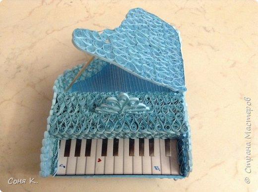 Рояль из квиллинга фото 1