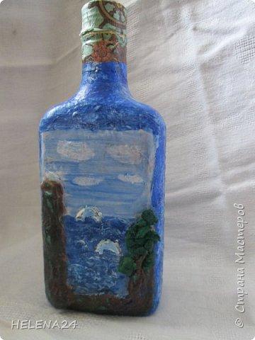 После алых парусов захотелось ещё пейзажа ,а так как в хотелках осталась  бутылка с пейзажем подсмотренная у Верочки http://stranamasterov.ru/node/935970?c=favorite_1248 ,то её и сделала  фото 1