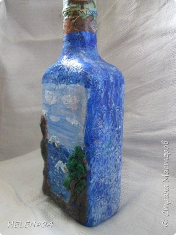 После алых парусов захотелось ещё пейзажа ,а так как в хотелках осталась  бутылка с пейзажем подсмотренная у Верочки http://stranamasterov.ru/node/935970?c=favorite_1248 ,то её и сделала  фото 2