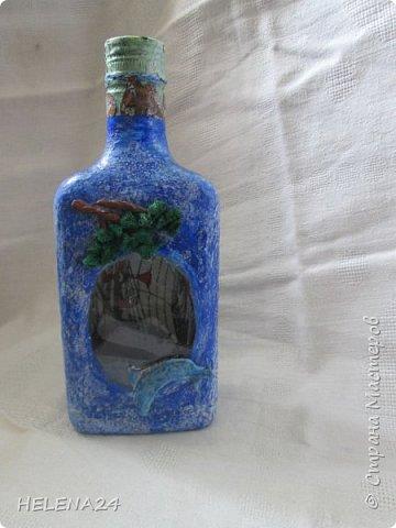 После алых парусов захотелось ещё пейзажа ,а так как в хотелках осталась  бутылка с пейзажем подсмотренная у Верочки http://stranamasterov.ru/node/935970?c=favorite_1248 ,то её и сделала  фото 5