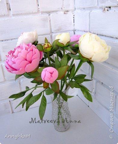Здравствуй, Страна Мастеров! Захватили меня полноразмерные цветы. Вот такой букет для себя вырос за 4 дня. Извините, много фото. фото 8