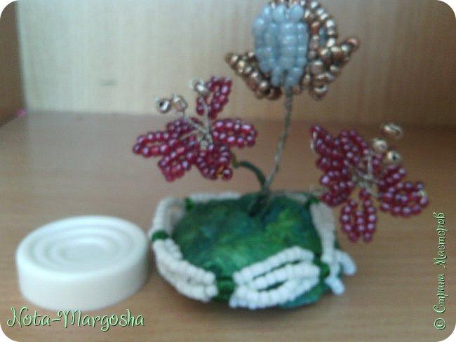 Мини-бисерные цветы фото 2