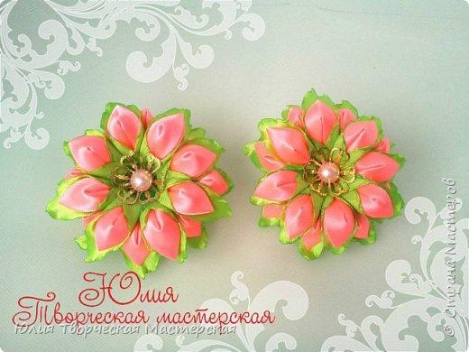 Весенний цветок канзаши мастер класс