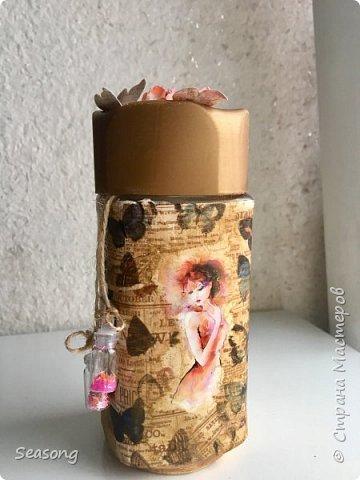 """Продолжаю делиться с вами своими новыми работами :) Это """"моя феечка"""", почему-то именно так мне захотелось назвать эту бутылку. фото 1"""
