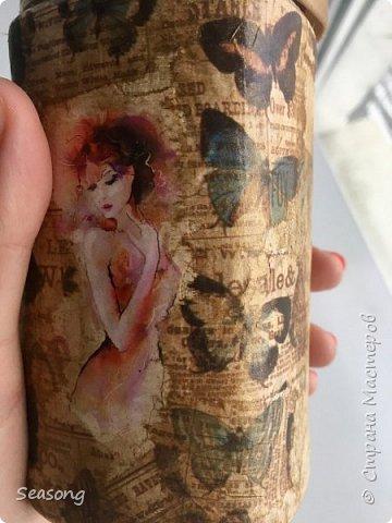 """Продолжаю делиться с вами своими новыми работами :) Это """"моя феечка"""", почему-то именно так мне захотелось назвать эту бутылку. фото 2"""