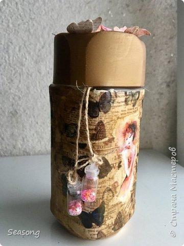 """Продолжаю делиться с вами своими новыми работами :) Это """"моя феечка"""", почему-то именно так мне захотелось назвать эту бутылку. фото 3"""