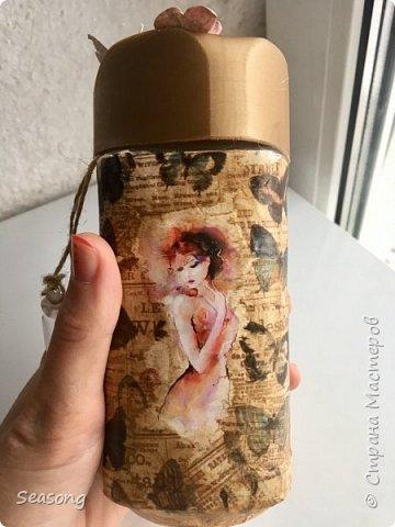 """Продолжаю делиться с вами своими новыми работами :) Это """"моя феечка"""", почему-то именно так мне захотелось назвать эту бутылку. фото 5"""