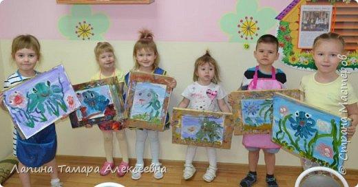 Здравствуйте всем, кто заглянул в гости.  Мои юные художники покажут вам своих обитателей моря.  фото 1