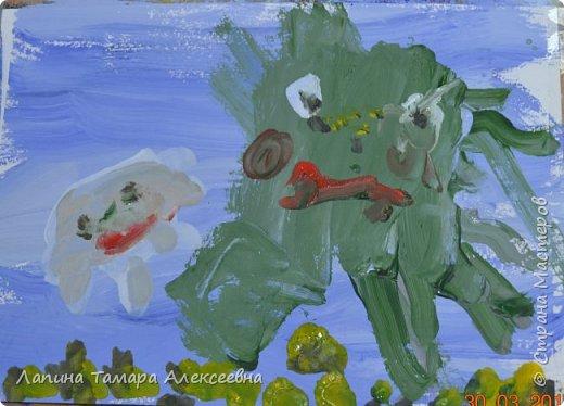 Здравствуйте всем, кто заглянул в гости.  Мои юные художники покажут вам своих обитателей моря.  фото 4